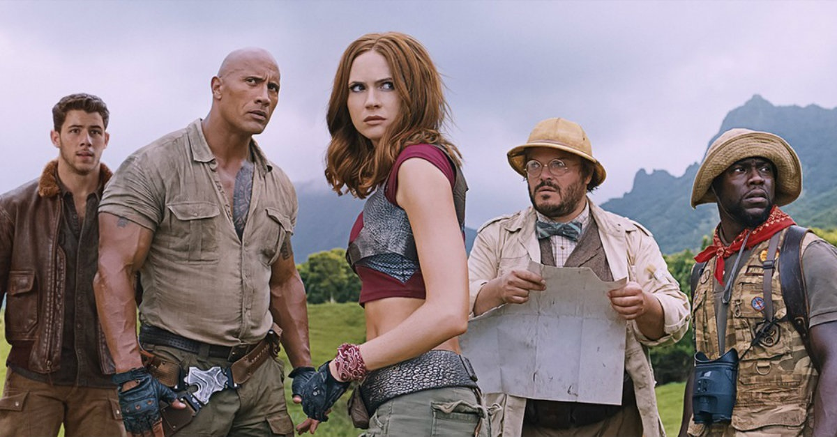 Jumanji, Jumanji: Welcome to the Jungle, Dwayne Johnson, Kevin Hart, Karen Gillan, Jack Black