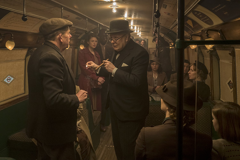 Darkest Hour, Gary Oldman, Churchill on the tube talking to people